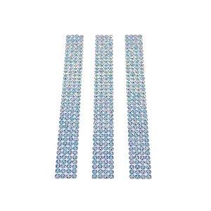 Chaton Cristal Acrílico Adesivo 5mm  Azul Claro 50 Unid