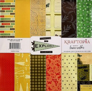 Bloco de Papel Cardstock Estampado 30,5 x 30,5 Explorer Collection Viagem