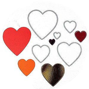 Faca de Corte Coração Liso 5 Peças