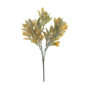 Buquê de Folha de Laranjeira Verde Amarelo Nevado 31 cm