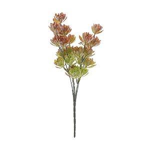 Mini Buquê de Suculenta com 5 Galhos 31cm