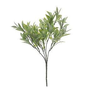 Buquê de Folha de Laranjeira Verde Nevado 31 cm