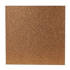 Papel Cardstock Scrapbook Glitter Bronze Quente 5 Folhas