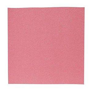 Papel Cardstock Scrap Glitter Holográfico Rosa 5 Folhas