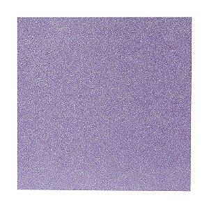 Papel Cardstock Scrapbook Glitter Holográfico Lilás 5 Folhas