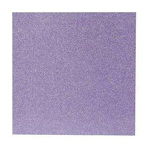 Papel Cardstock Scrap Glitter Holográfico Lilás 5 Folhas