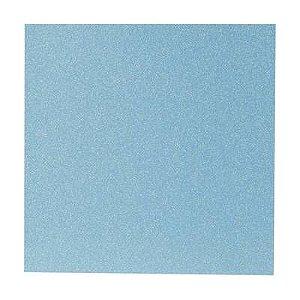 Papel Cardstock Glitter Holográfico Azul Claro 5 Folhas