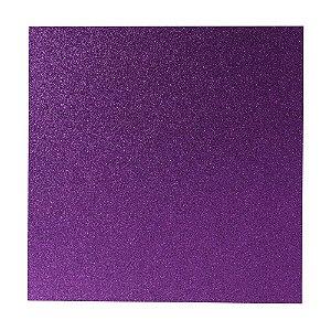 Papel Cardstock Scrapbook Glitter Roxo 5 Folhas