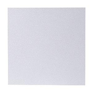 Papel Cardstock Scrap Glitter Holográfico Branco 5 Folhas