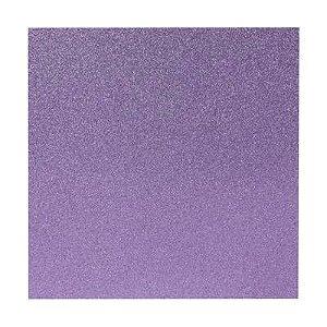 Papel Cardstock Scrapbook Glitter Lilás 5 Folhas
