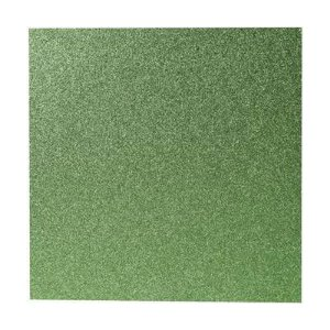 Papel Cardstock Scrapbook Glitter Verde Bandeira 5 Folhas