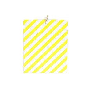 Kit Embalagem Listrada Amarela e Branca + Mini Pregador 20 Unidades
