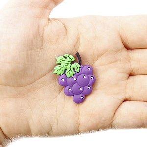 10 Apliques de Frutas em Silicone Uva