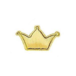 Mini Coroa em Tecido Metalizado Dourada 20 Unidades