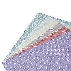 Bloco de Papel Cardstock 30,5 x 30,5 Small Polka Dot Poá Bolinha 48 Folhas