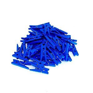100 Unidades Mini Pregadores Prendedores Azul Escuro 2,5 cm