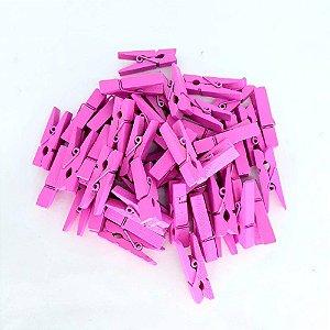 100 Unidades Mini Pregadores Prendedores Rosa Pink 2,5 cm