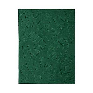 Placa de Textura Emboss 10,6 cm x 15 cm Folha de Adão