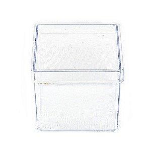 10 Unid. Caixa em Acrílico 5 cm x 5 cm Cristal Transparente