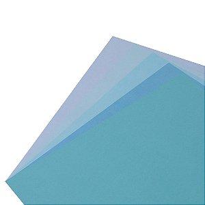 Coleção Papel Cardstock Scrap Color Céu 10 Folhas