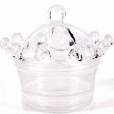 10 Unidades Mini Coroa Acrílica Cristal Transparente