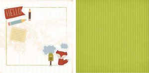 Papel para Scrapbook Desenhos 30,5x30,5 Art0002 Foxy 2