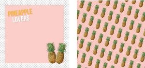 Papel para Scrapbook Desenhos 30,5x30,5 Art0015 Abacaxi