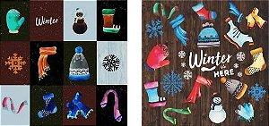 Papel para Scrapbook Desenhos 30,5x30,5 Art0171 Winter is Here