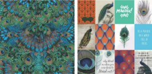 Papel para Scrapbook Desenhos 30,5x30,5 Art0177 Peacock Color