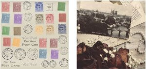 Papel para Scrapbook Desenhos 30,5x30,5 Art0183 Post Card