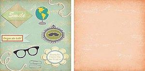 Papel para Scrapbook Desenhos 30,5x30,5 Art0022 Happy Day