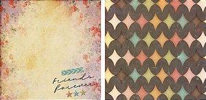 Papel para Scrapbook Desenhos 30,5x30,5 Art0024 Friends Forever