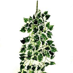 Pendente Folhagem com Folhas de Hera Verde e Branca 90 cm