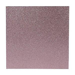 Papel Cardstock Scrapbook Glitter Rosa Claro 5 Folhas