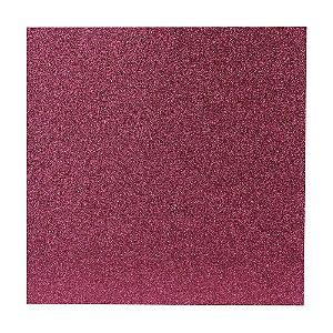 Papel Cardstock Scrapbook Glitter Pink 5 Folhas