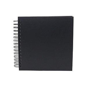 Álbum de Assinaturas e Scrapbook Preto 21 cm x 21 cm