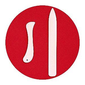 Kit 2 Dobradeiras Vincador para Scrapbook Encadernação