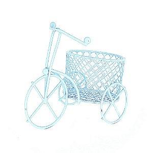 12 Unidades Mini Triciclo Aramado Azul Claro