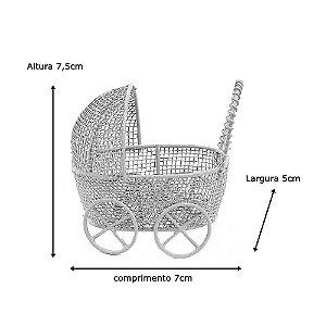 12 Unidades Carrinho de Bebê Aramado Branco