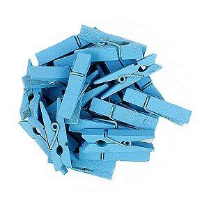 50 Unidades Mini Pregadores Azul 3,5 cm