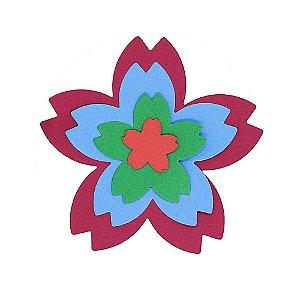 Faca de Corte Flor de Sakura 5 Pétalas com 4 peças