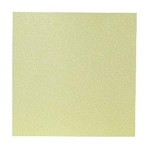 Papel Cardstock Scrap Glitter Holográfico Amarelo 5 Folhas