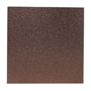 Papel Cardstock Scrapbook Glitter Marrom Escuro 5 Folhas