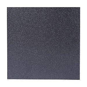 Papel Cardstock Scrapbook Glitter Preto 5 Folhas