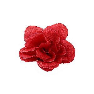 20 Unidades Botão Rosa sem Haste Vermelha 7 cm