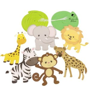 Enfeite Decorativo Infantil Safari