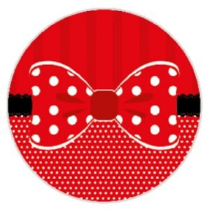 10 Unid. Etiqueta Adesiva Cromo Laço Vermelho 4 Cm