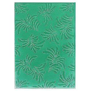 Placa de Textura Emboss 10,6 cm x 15 cm Folhas
