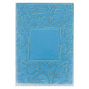 Placa de Textura Emboss 10,6 cm x 15 cm Moldura com Folhas