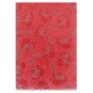 Placa de Textura Emboss 10,6 cm x 15 cm Flor de Hibisco